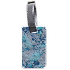 Marbled Lava Blue Luggage Tags (Two Sides)