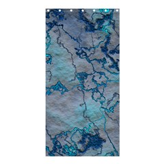 Marbled Lava Blue Shower Curtain 36  X 72  (stall)