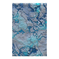 Marbled Lava Blue Shower Curtain 48  x 72  (Small)