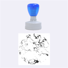 Marbled Lava Blue Rubber Round Stamps (medium)
