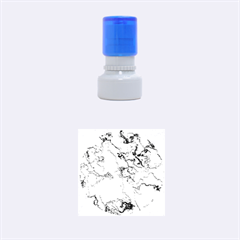 Marbled Lava Blue Rubber Round Stamps (Small)