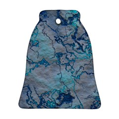 Marbled Lava Blue Ornament (bell)