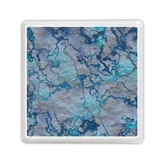 Marbled Lava Blue Memory Card Reader (square)