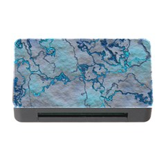 Marbled Lava Blue Memory Card Reader With Cf