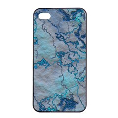 Marbled Lava Blue Apple iPhone 4/4s Seamless Case (Black)