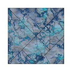 Marbled Lava Blue Acrylic Tangram Puzzle (6  x 6 )