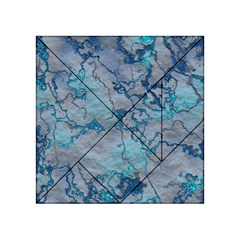 Marbled Lava Blue Acrylic Tangram Puzzle (4  x 4 )
