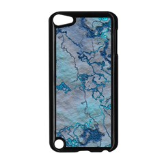 Marbled Lava Blue Apple iPod Touch 5 Case (Black)