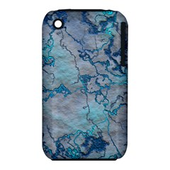 Marbled Lava Blue Apple iPhone 3G/3GS Hardshell Case (PC+Silicone)