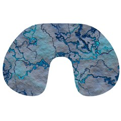 Marbled Lava Blue Travel Neck Pillows