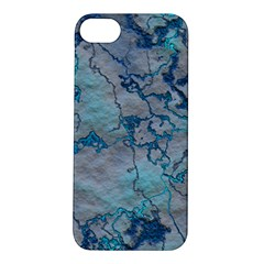 Marbled Lava Blue Apple iPhone 5S Hardshell Case