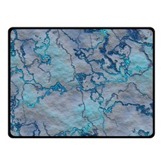 Marbled Lava Blue Double Sided Fleece Blanket (small)