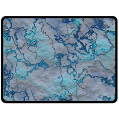 Marbled Lava Blue Double Sided Fleece Blanket (Large)