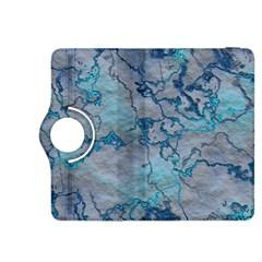 Marbled Lava Blue Kindle Fire Hdx 8 9  Flip 360 Case