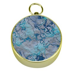 Marbled Lava Blue Gold Compasses