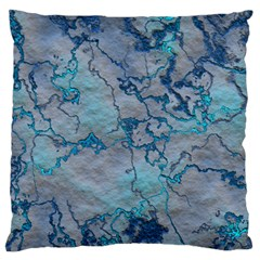 Marbled Lava Blue Large Flano Cushion Cases (one Side)