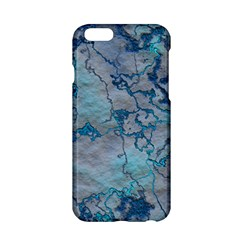 Marbled Lava Blue Apple iPhone 6/6S Hardshell Case