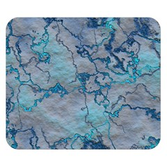 Marbled Lava Blue Double Sided Flano Blanket (small)