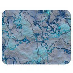 Marbled Lava Blue Double Sided Flano Blanket (Medium)