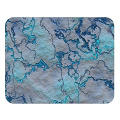 Marbled Lava Blue Double Sided Flano Blanket (large)