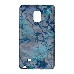 Marbled Lava Blue Galaxy Note Edge