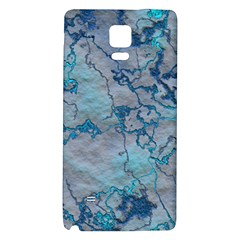 Marbled Lava Blue Galaxy Note 4 Back Case