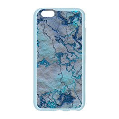 Marbled Lava Blue Apple Seamless iPhone 6 Case (Color)