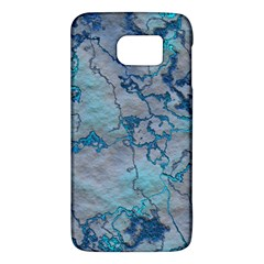Marbled Lava Blue Galaxy S6