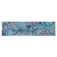 Marbled Lava Blue Satin Scarf (oblong)