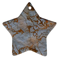Marbled Lava Orange Ornament (Star)
