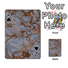 Marbled Lava Orange Playing Cards 54 Designs