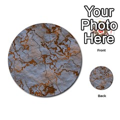 Marbled Lava Orange Multi Purpose Cards (round)