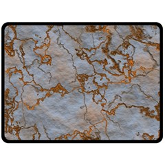 Marbled Lava Orange Fleece Blanket (Large)