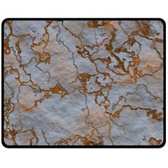 Marbled Lava Orange Fleece Blanket (Medium)
