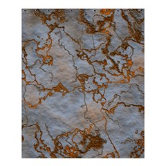 Marbled Lava Orange Shower Curtain 60  x 72  (Medium)