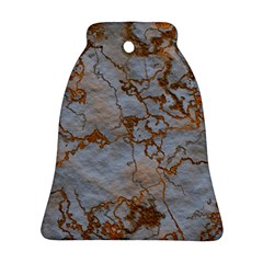 Marbled Lava Orange Ornament (Bell)