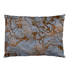 Marbled Lava Orange Pillow Cases (two Sides)