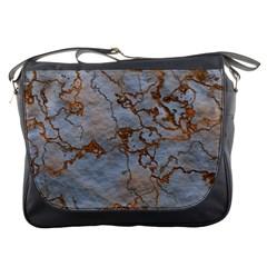 Marbled Lava Orange Messenger Bags