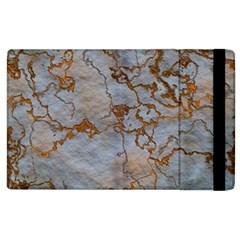 Marbled Lava Orange Apple iPad 3/4 Flip Case
