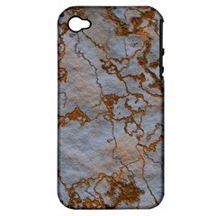 Marbled Lava Orange Apple Iphone 4/4s Hardshell Case (pc+silicone)