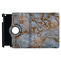 Marbled Lava Orange Apple iPad 2 Flip 360 Case