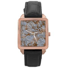 Marbled Lava Orange Rose Gold Watches