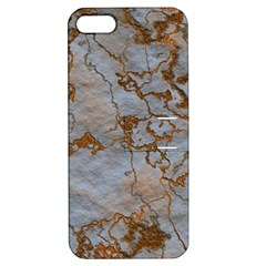 Marbled Lava Orange Apple iPhone 5 Hardshell Case with Stand