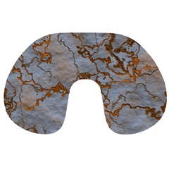 Marbled Lava Orange Travel Neck Pillows