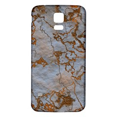 Marbled Lava Orange Samsung Galaxy S5 Back Case (White)