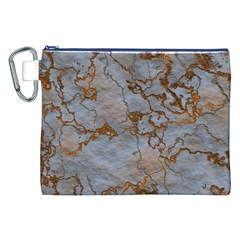 Marbled Lava Orange Canvas Cosmetic Bag (XXL)