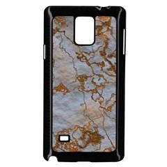 Marbled Lava Orange Samsung Galaxy Note 4 Case (Black)
