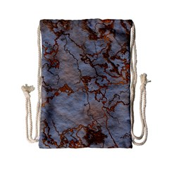 Marbled Lava Orange Drawstring Bag (Small)