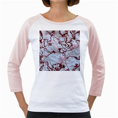 Marbled Lava Red Girly Raglans