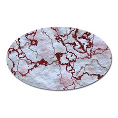 Marbled Lava Red Oval Magnet